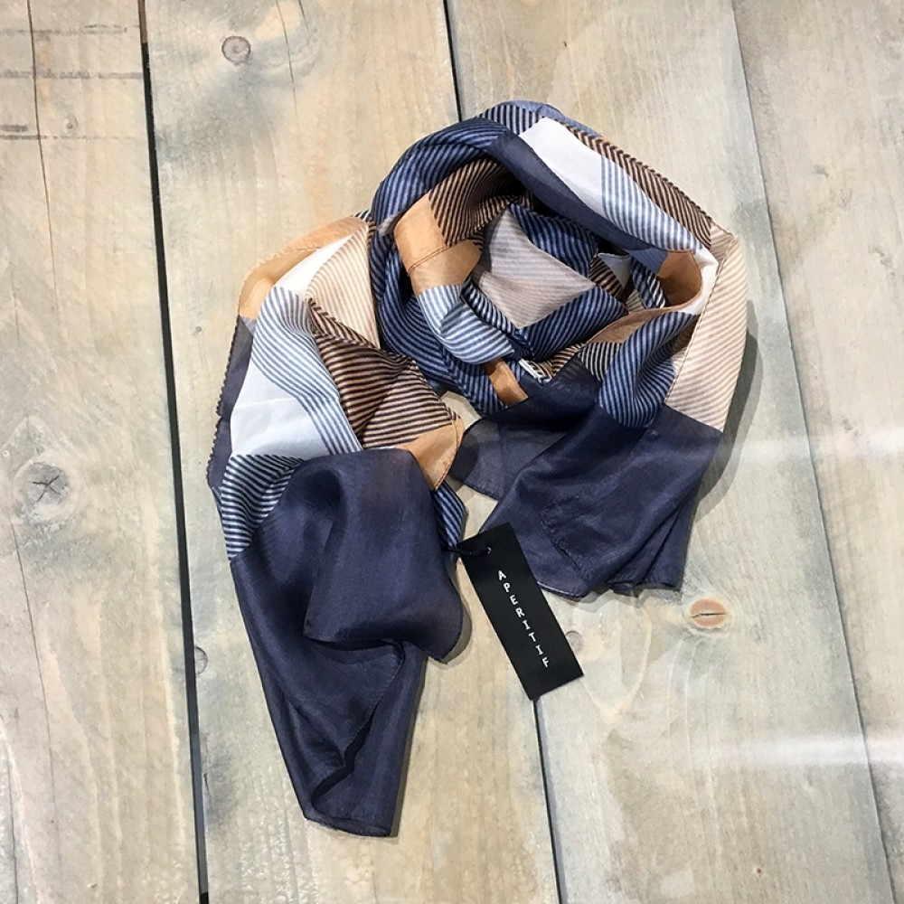 Aperitif silke tørklæde blue-31