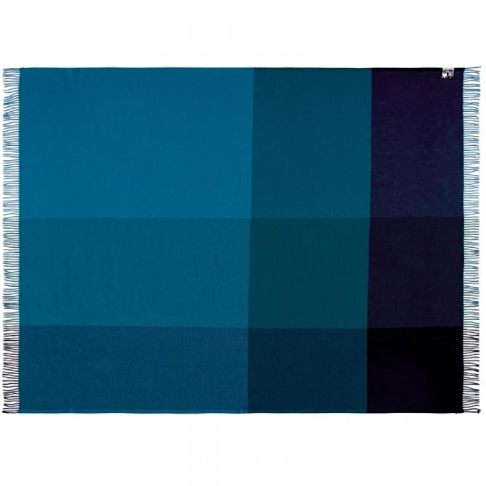 Merino uld plaid Mix farve Blå-31