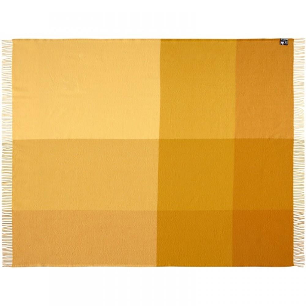 Merino uld plaid Mix farve gul-33