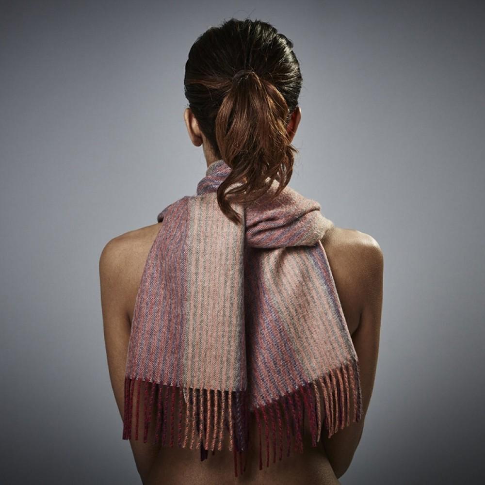 Halstørklæde - Baby alpaca peach