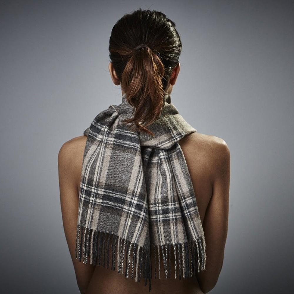 Halstørklæde 30cm Baby alpaca tern-31