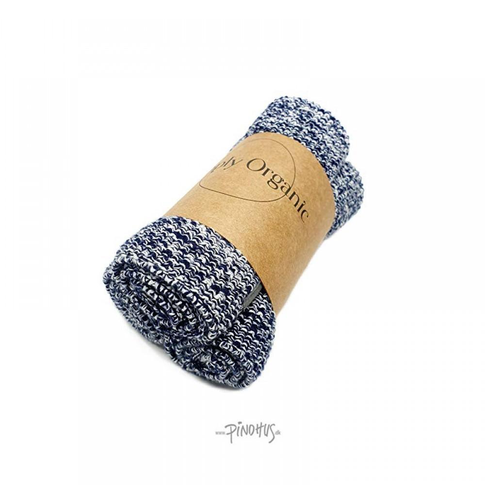 Simply Living 3 stk øko karklude - blå melange