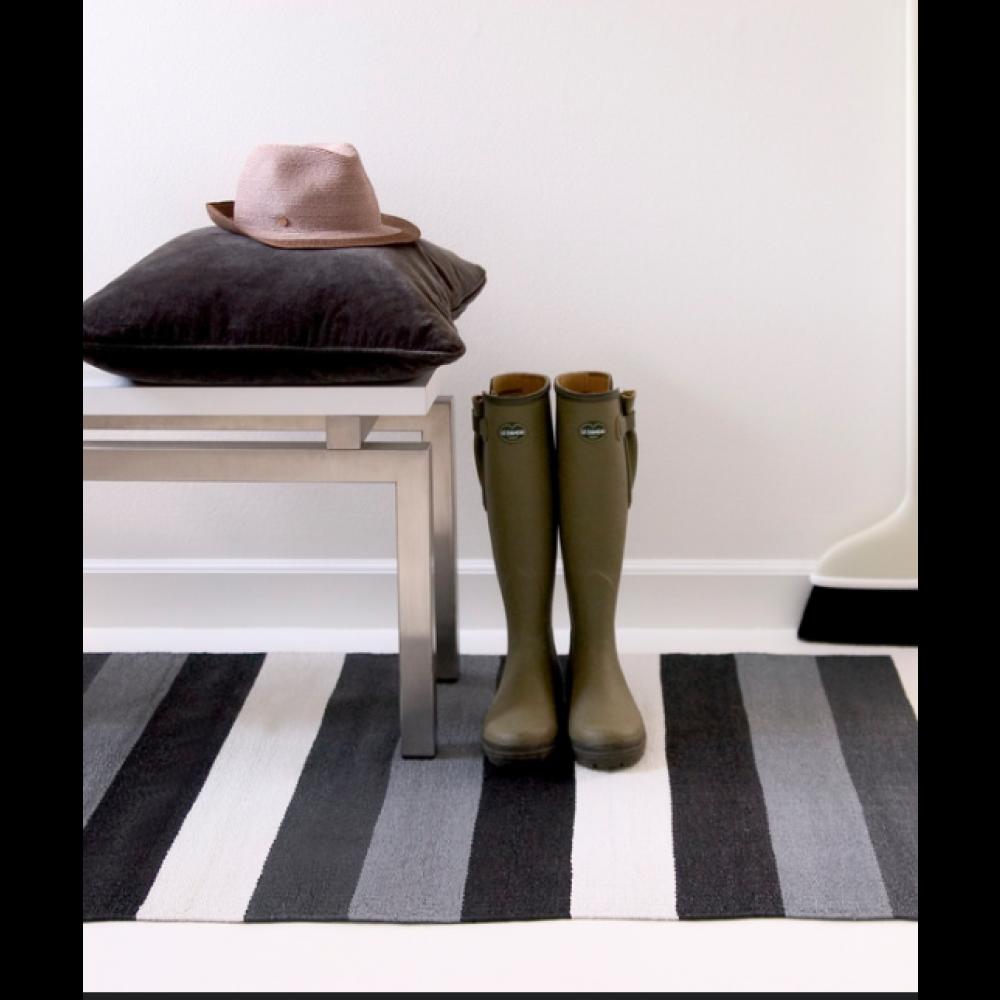 Plastik gulvtæppe Sort/hvid/grå-30