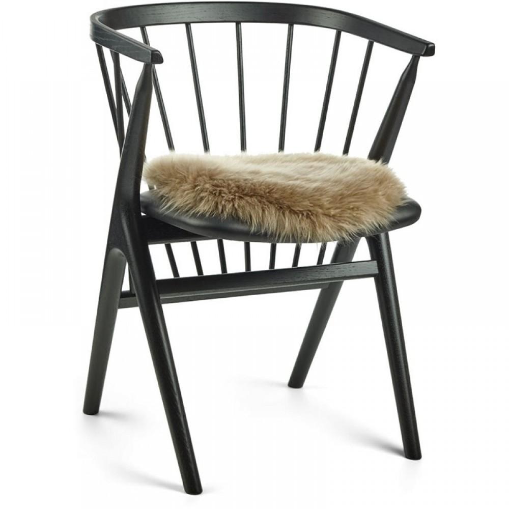 Rundt sæde skind til stol Ø37cm-31