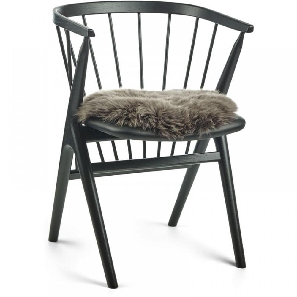 Rundt sæde skind til stol Ø38cm-01