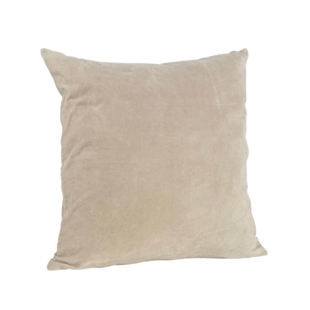 Pude Velour sand 50x50cm-30