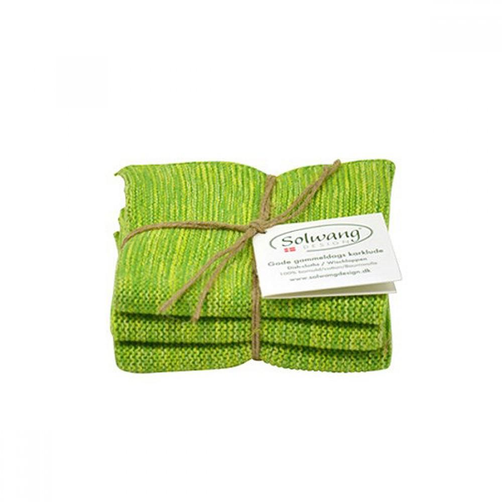 Solwang Karklude 3 stk. Grøn meleret-30