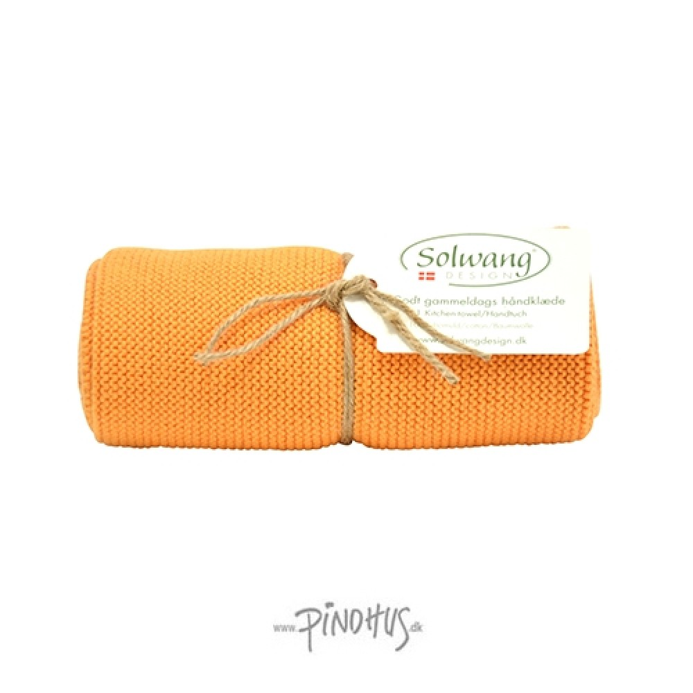 Solwang strikket håndklæde Lys brændt orange-31