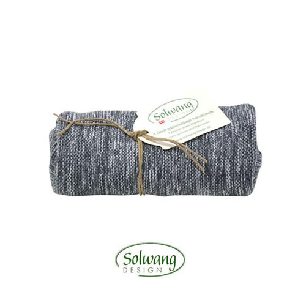 Solwang strikket håndklæde Grå meleret-30