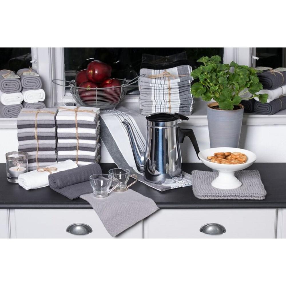 Solwang strikket håndklæde Mørk grå-30