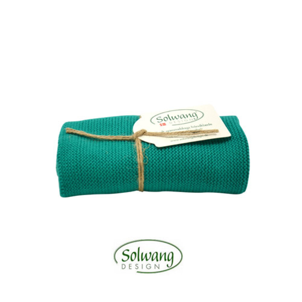 Solwang strikket håndklæde - Turkis