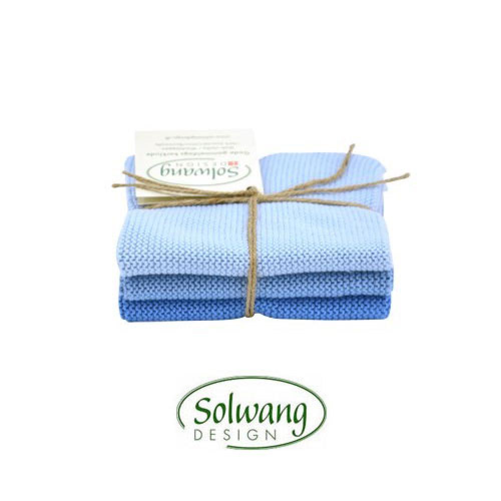 Solwang karklude 3 stk Isblå mix-30