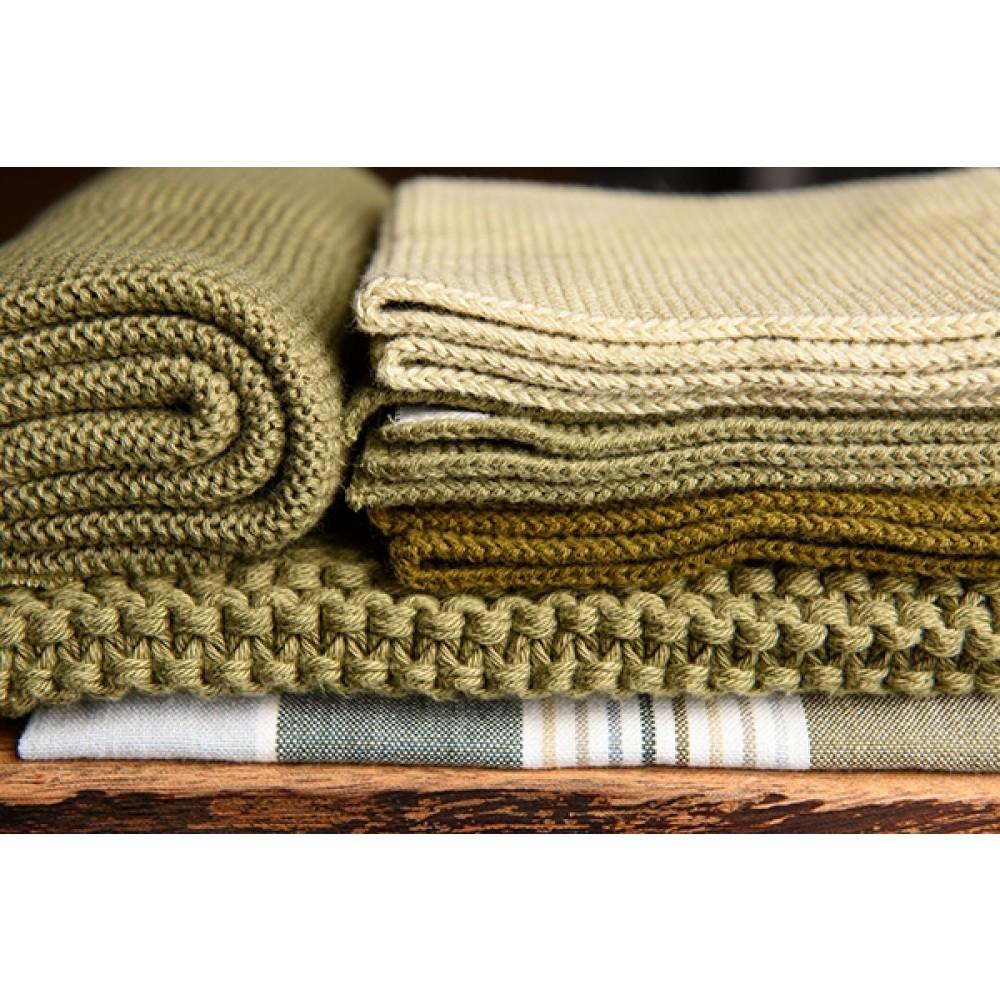 Solwang strikket håndklæde Oliven-32