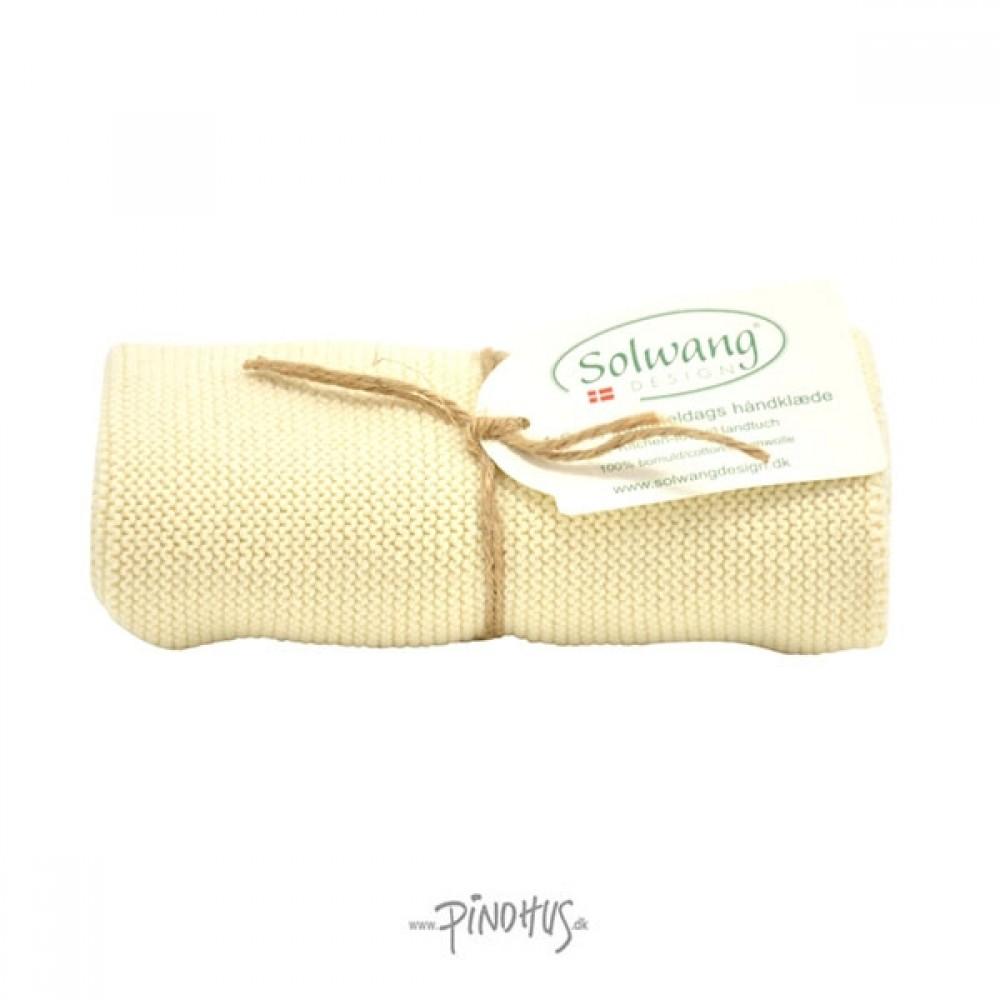 Solwang Strikket Håndklæde Natur-31
