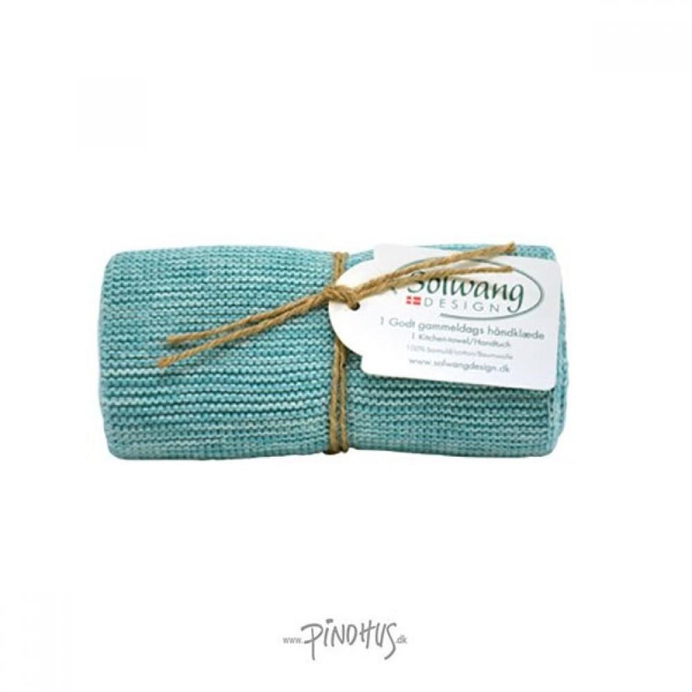 Solwang strikket håndklæde Aqua mix-31