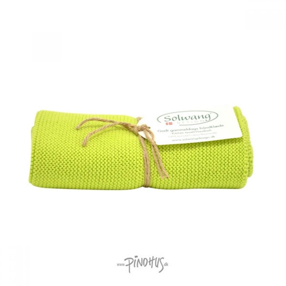 Solwang Strikket Håndklæde Lime-31