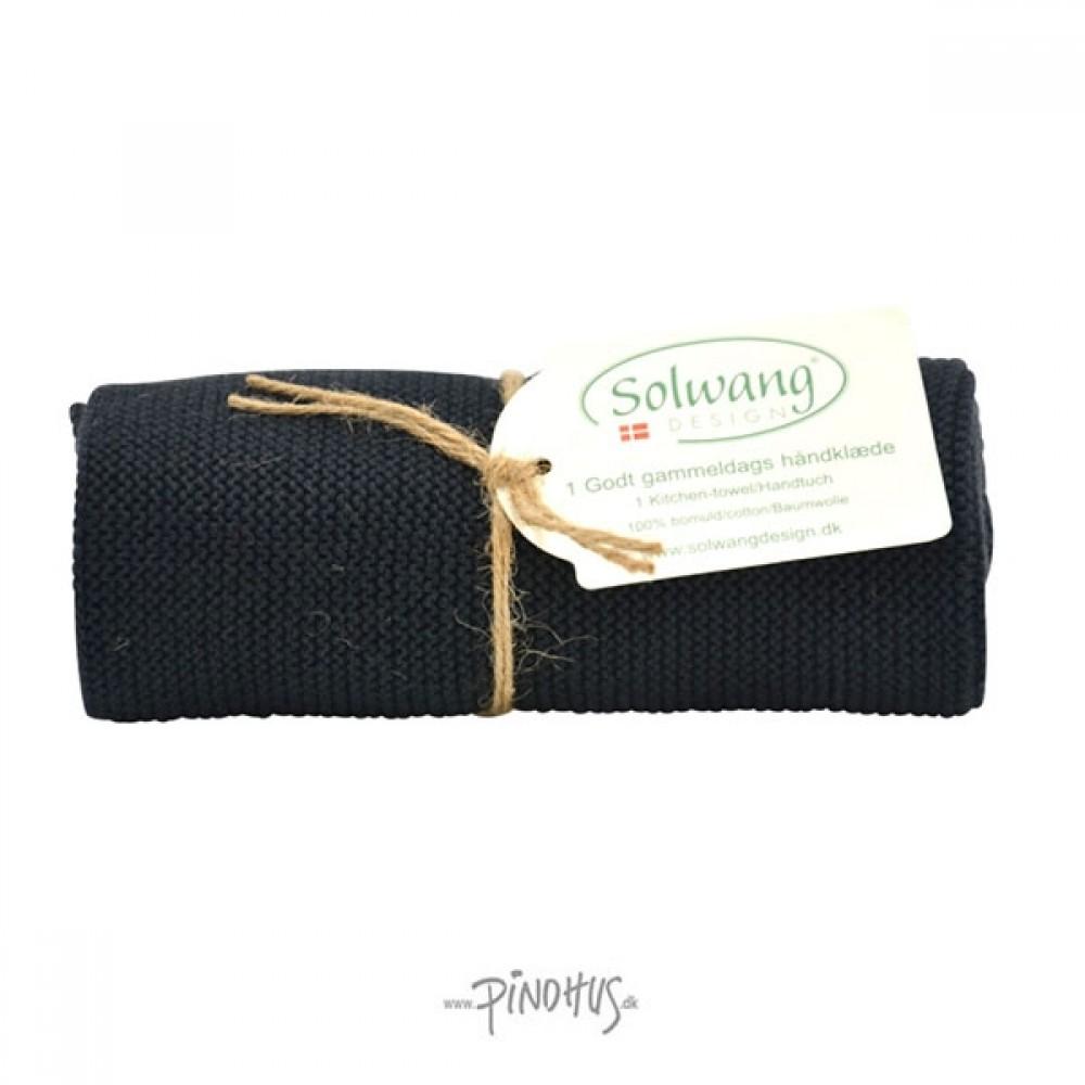 Solwang Strikket Håndklæde - Sort