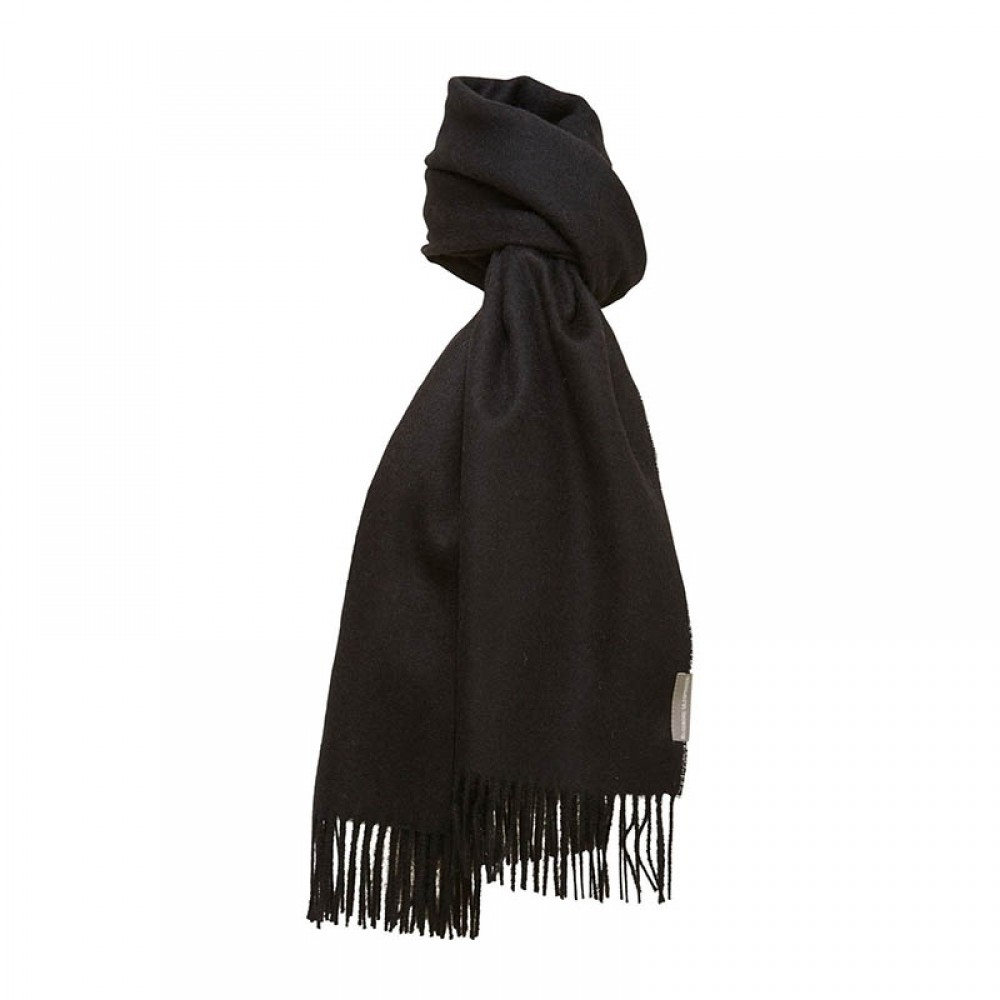 Halstørklæde - Baby alpaca sort 60x200cm