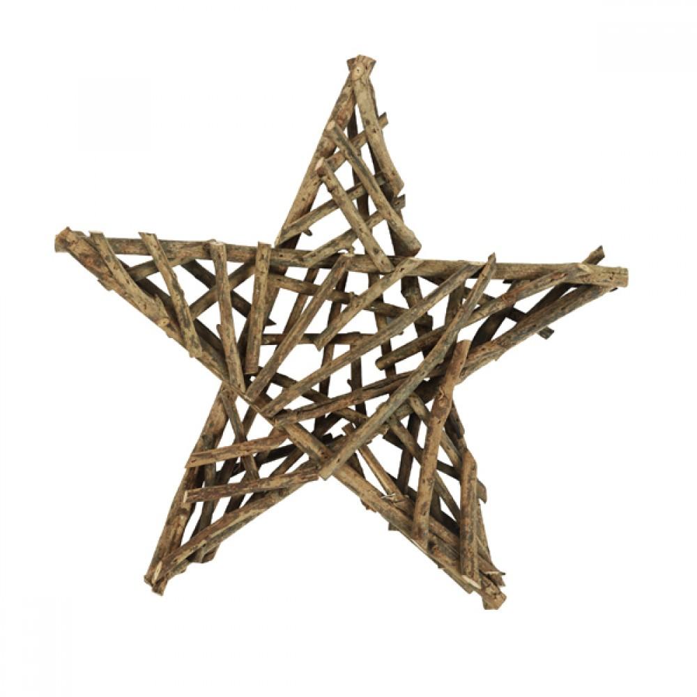 Natur Deko-stjerne 40cm