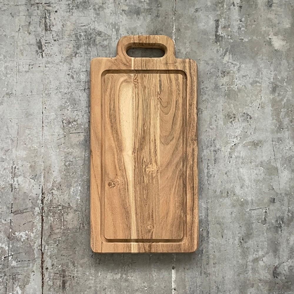 Stuff Design - Skærebræt m/håndtag og rille 40cm