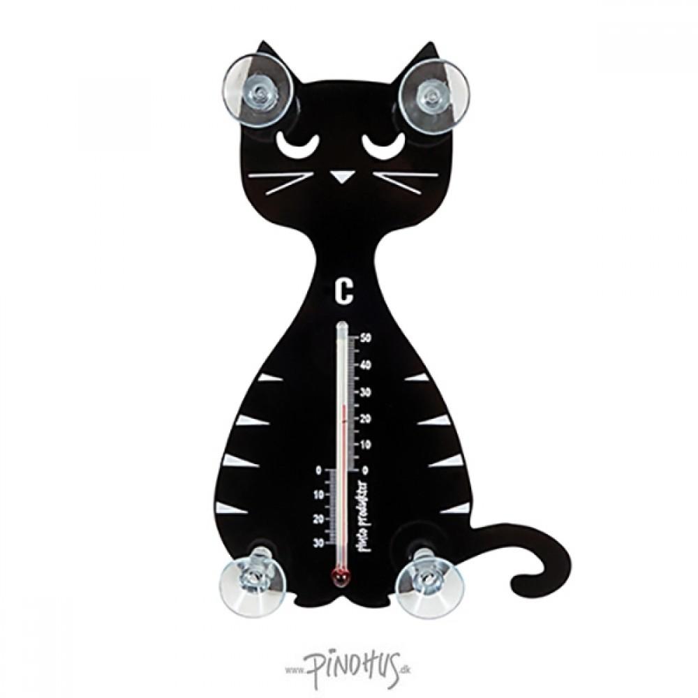Pluto termometer m/sugekop - Kat