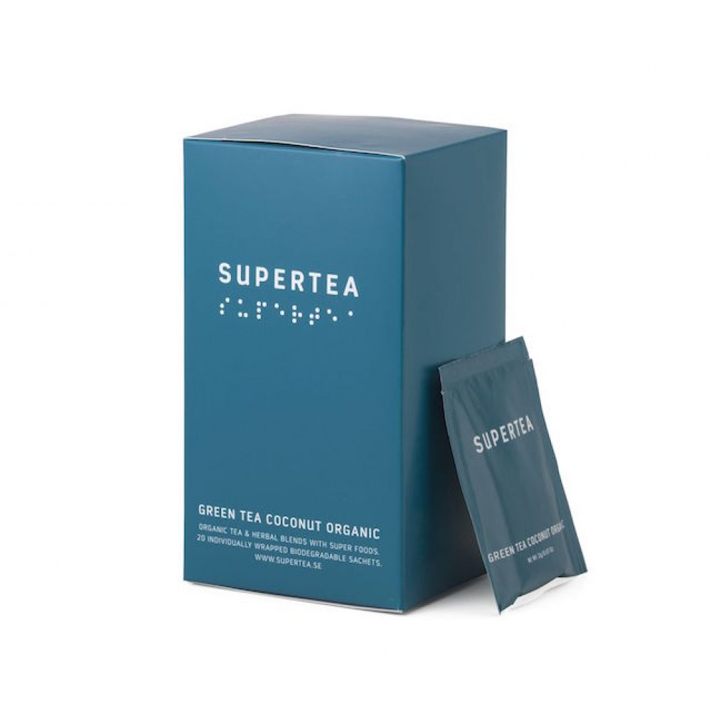 Supertea Green tea coconut organic-32