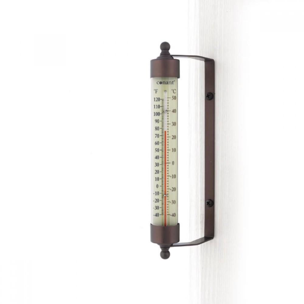 Udendørs termometer - bronze alu