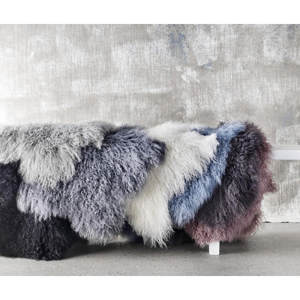 Tibetansk skind lys grå-30