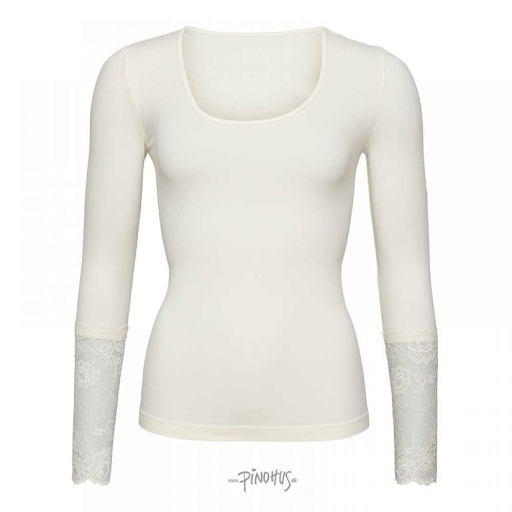 Tim and Simonsen bluse m/ blonde ærme Offwhite-31