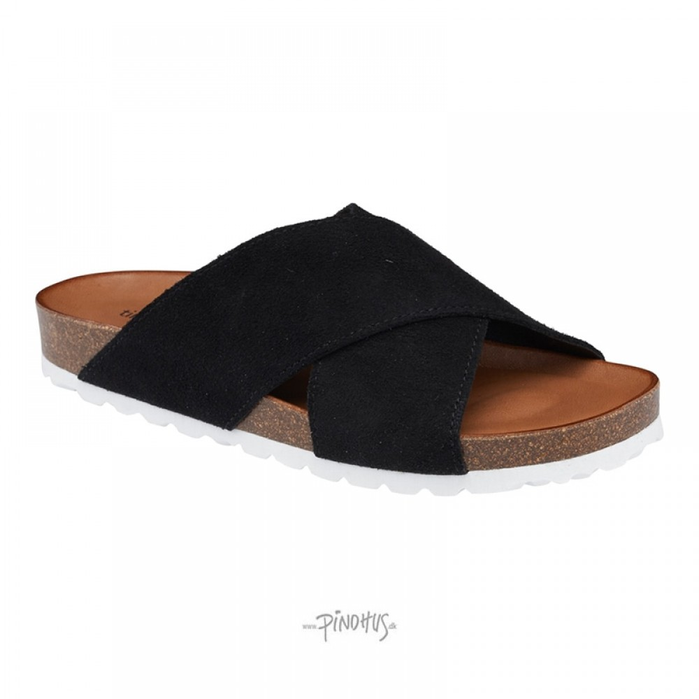 Annet sandal - Sort m/ hvid bund