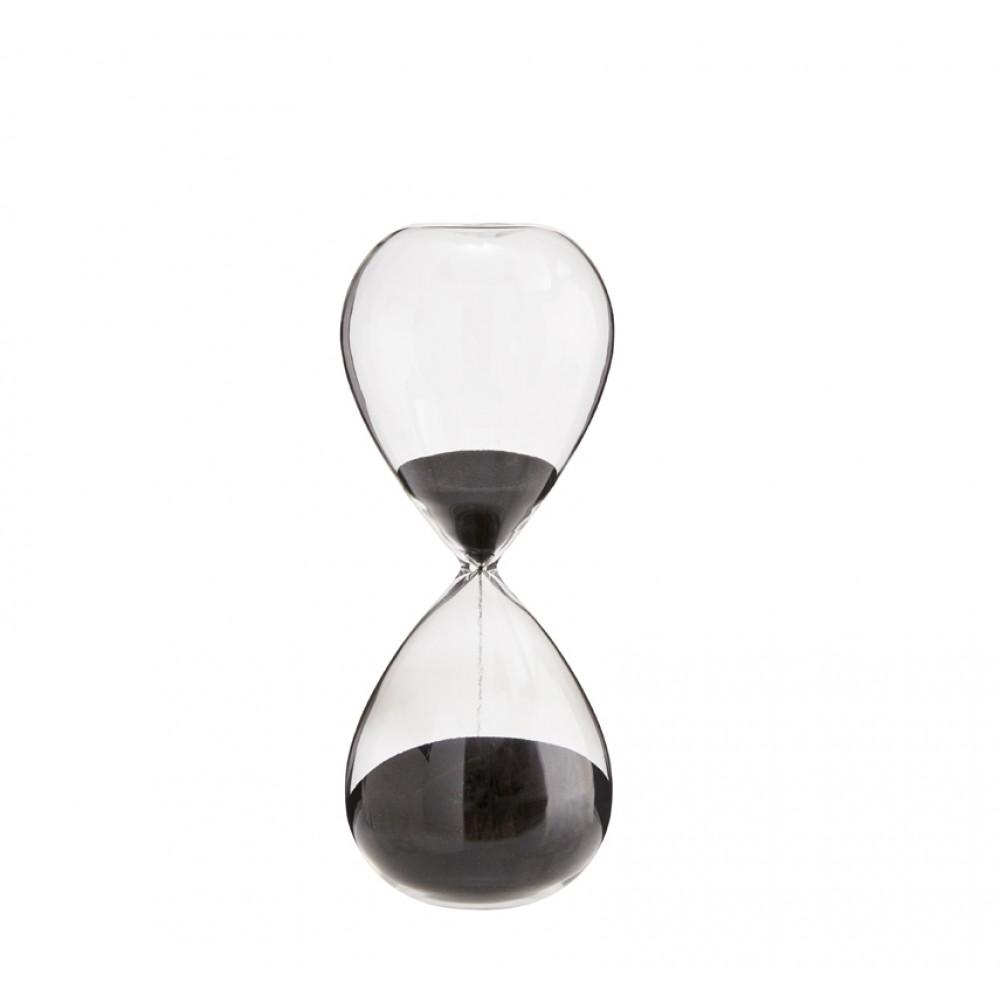 Timeglas sort H20cm-30