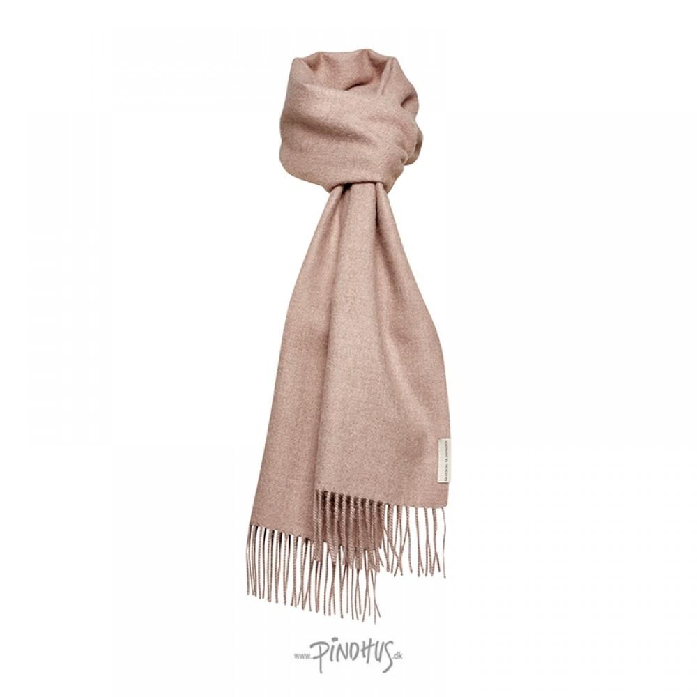 Halstørklæde - Baby alpaca støvet rosa