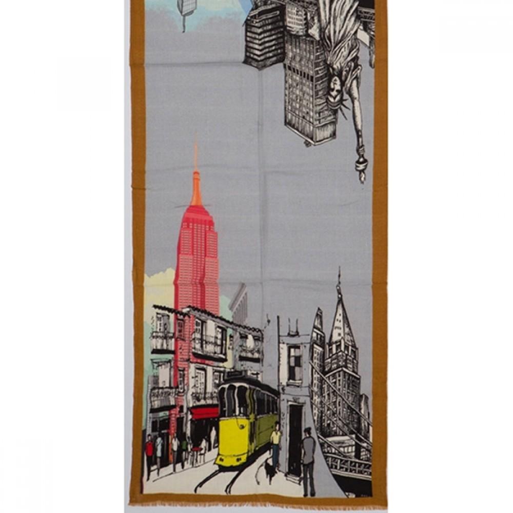 Tørklæde uld/cashmere New York-31
