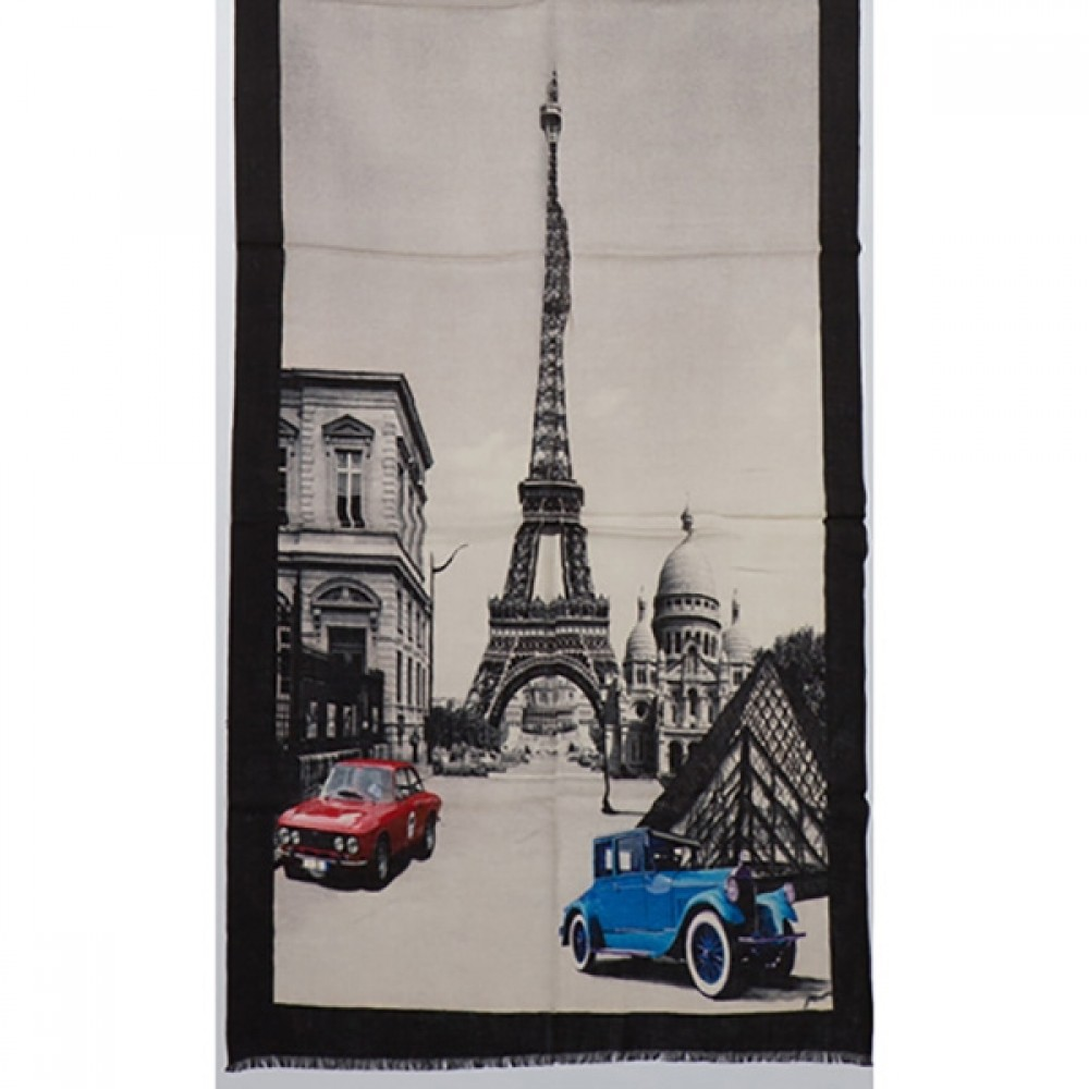 Tørklæde uld/cashmere Paris sand-31