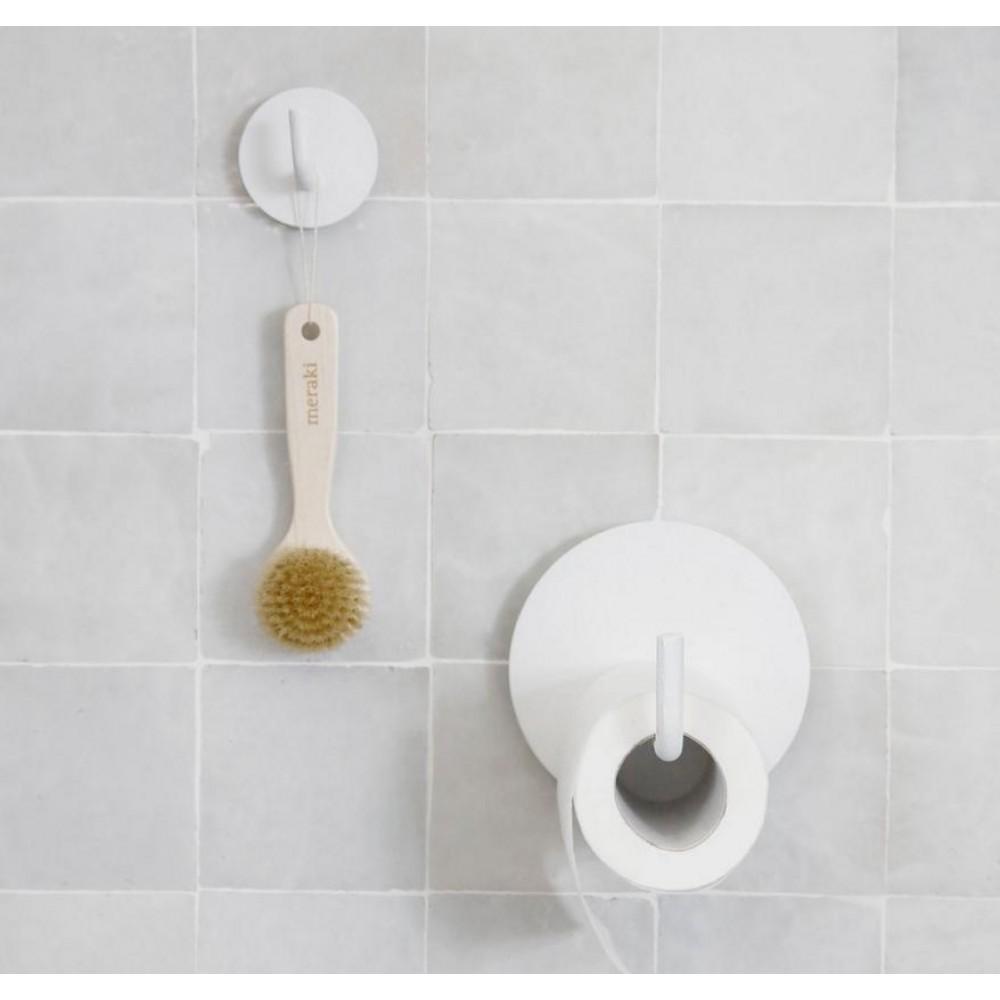 Toiletpapirholder Text hvid-30