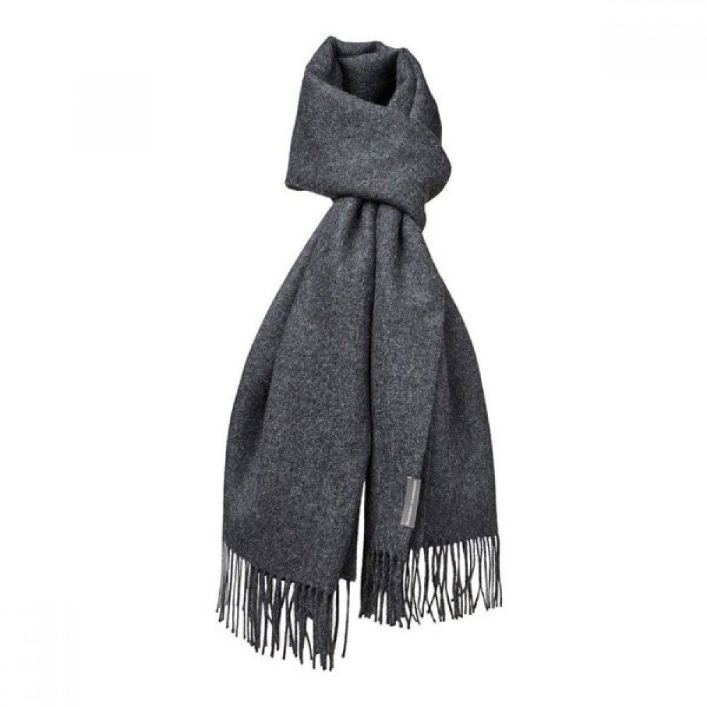 Halstørklæde Baby alpaca mørk grå-30