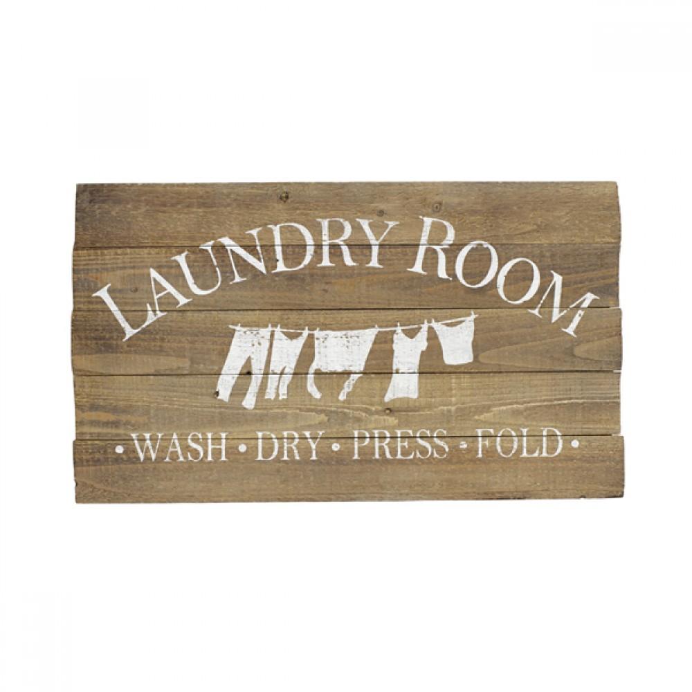 Skilt i træ Laundry-30