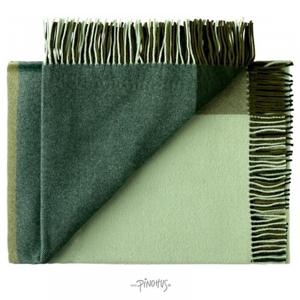 Merino uld plaid Mix farve grøn-31