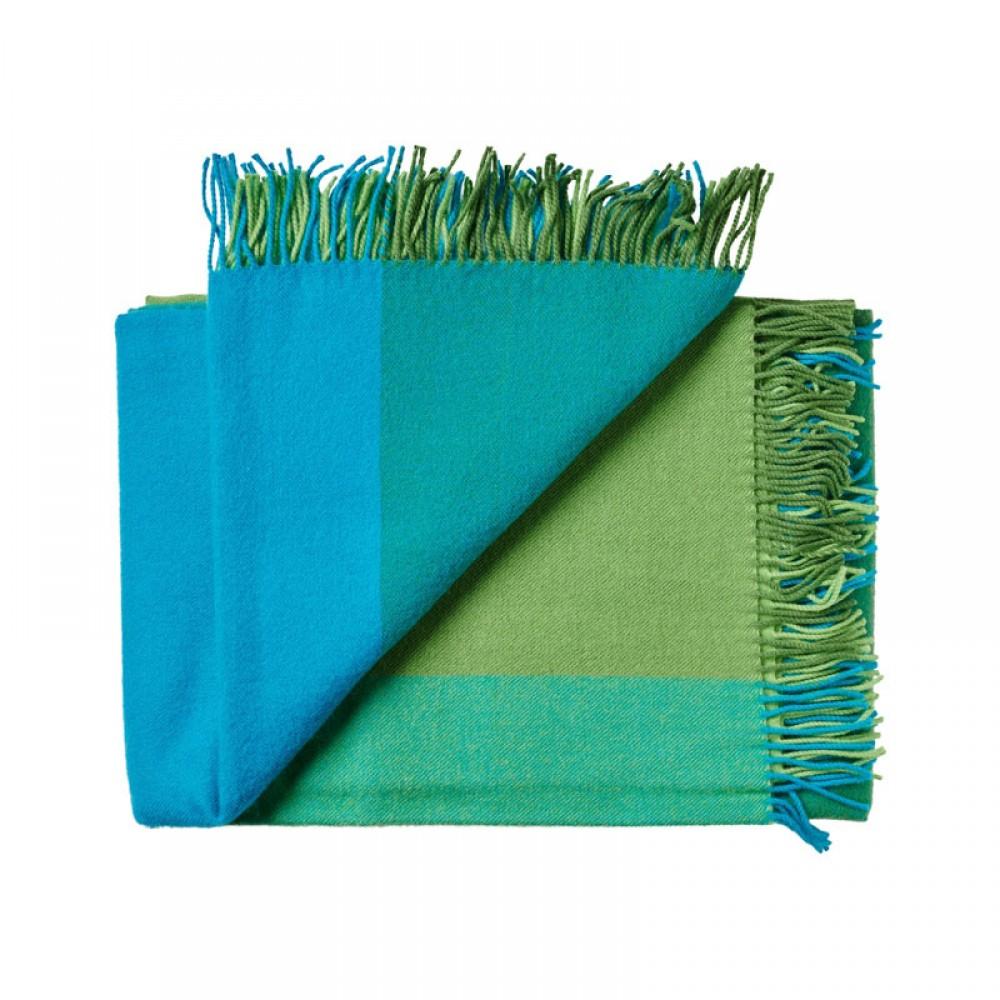 Plaid uld Mix farve Grøn-30