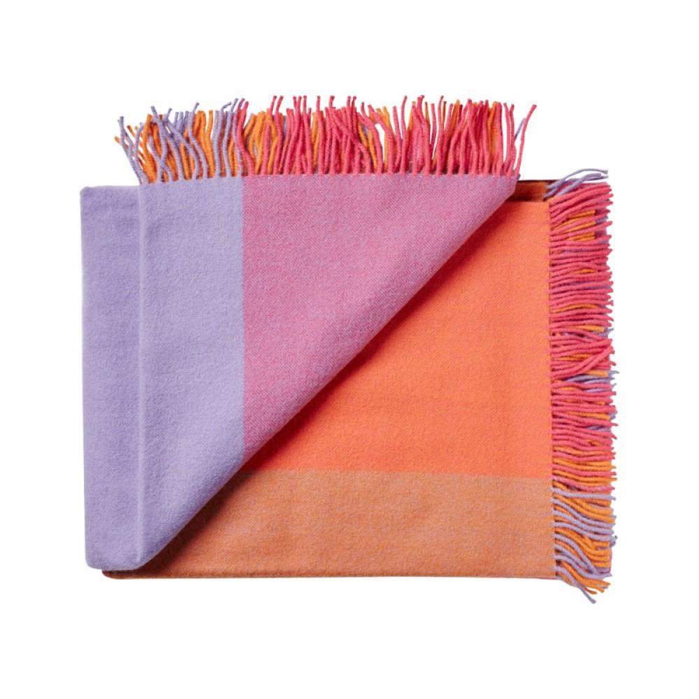 Plaid uld Mix farve Lilla-30