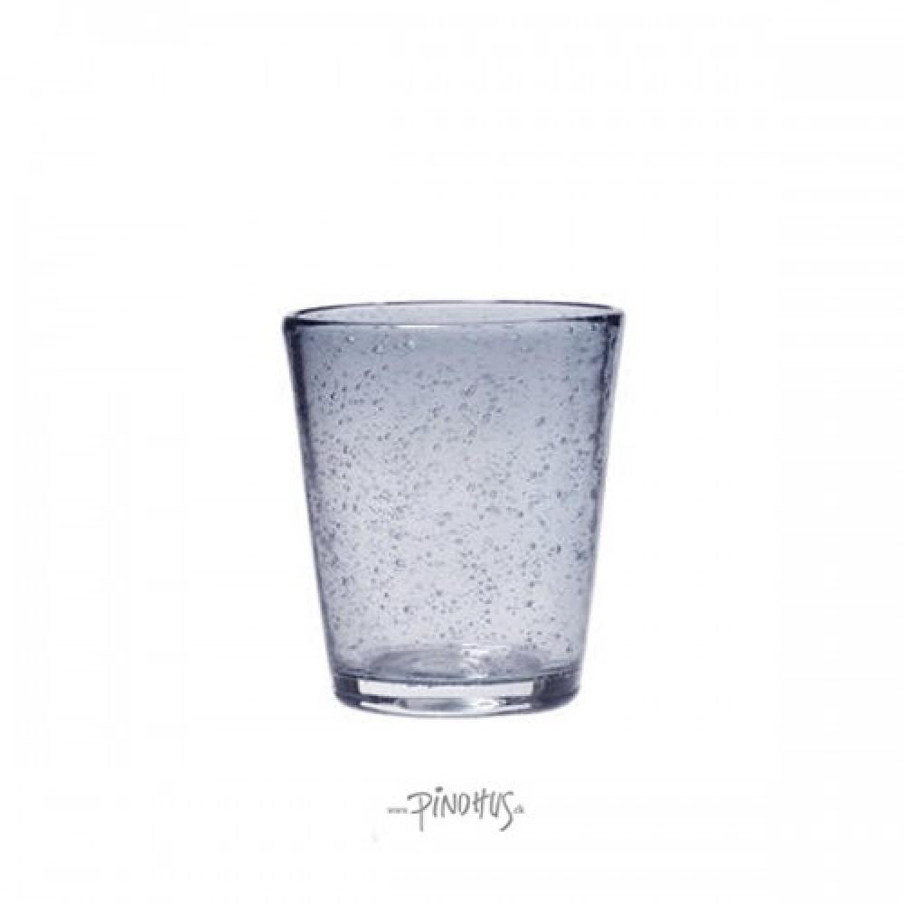 Vandglas grå-blå m/bobler-31
