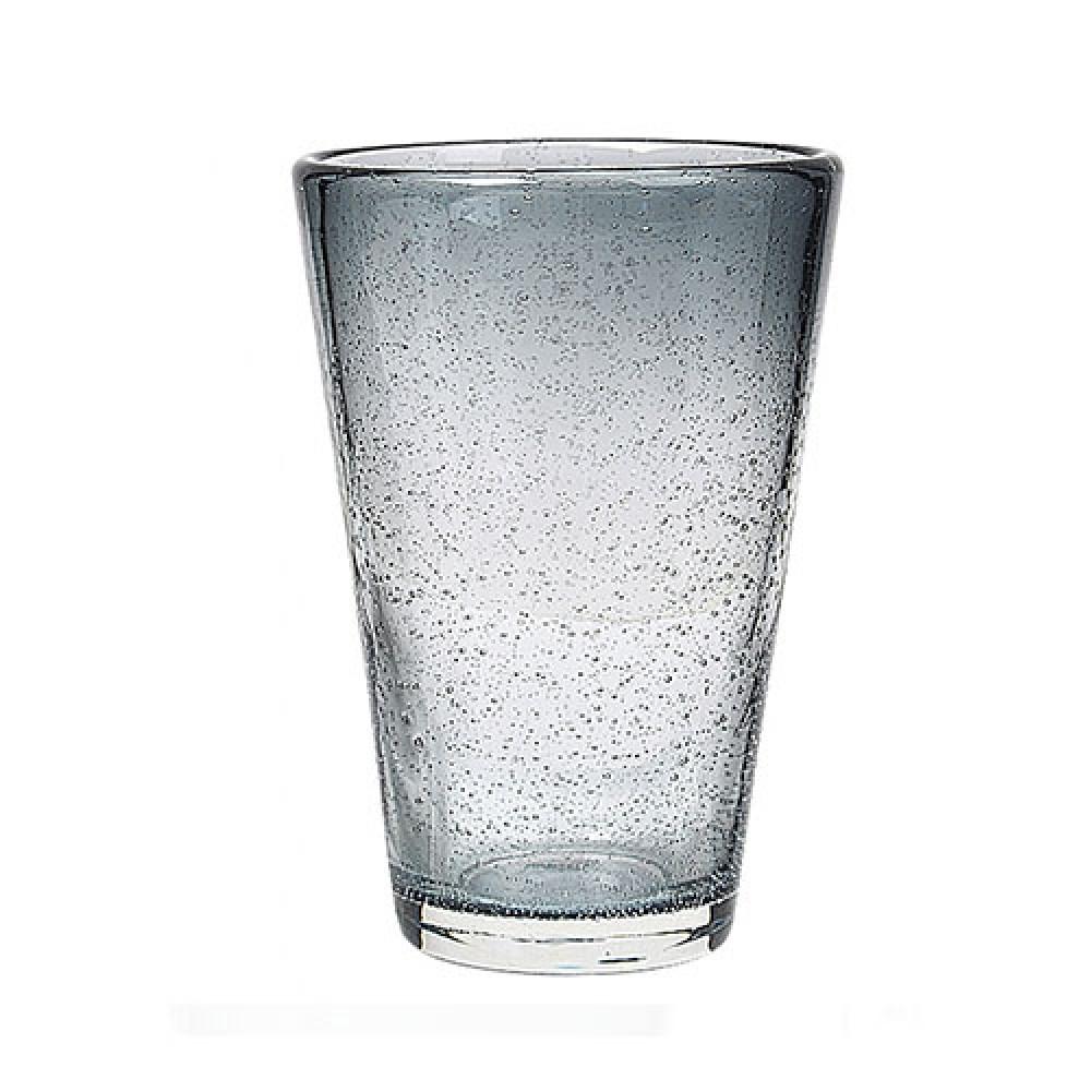 Vandglas høj GRÅ-BLÅ M/BOBLER-31
