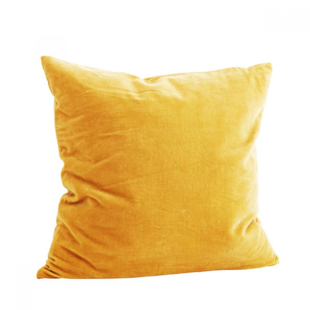 Pude Velour gul 50x50cm-31