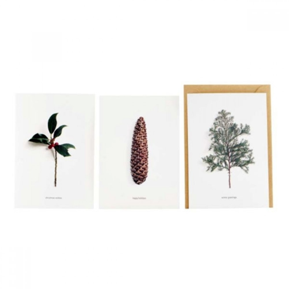 Postkort m/kuvert 6 stk Winter-31