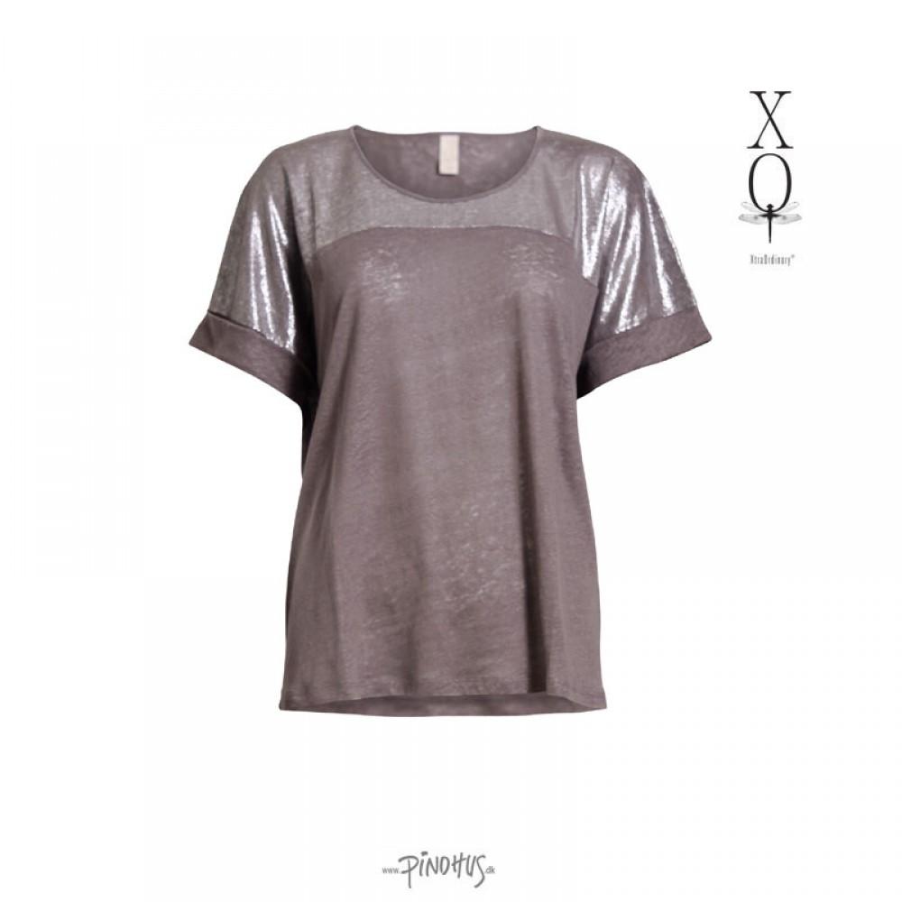 XO Hør bluse grå-30