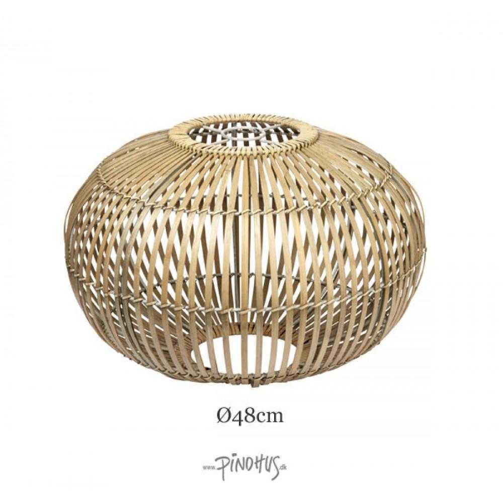 Rund Bambuslampeskærm natur 48cm-30