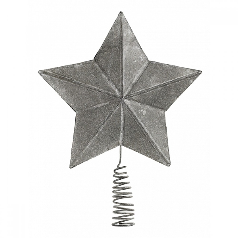 Metal Topstjerne Zink look-31