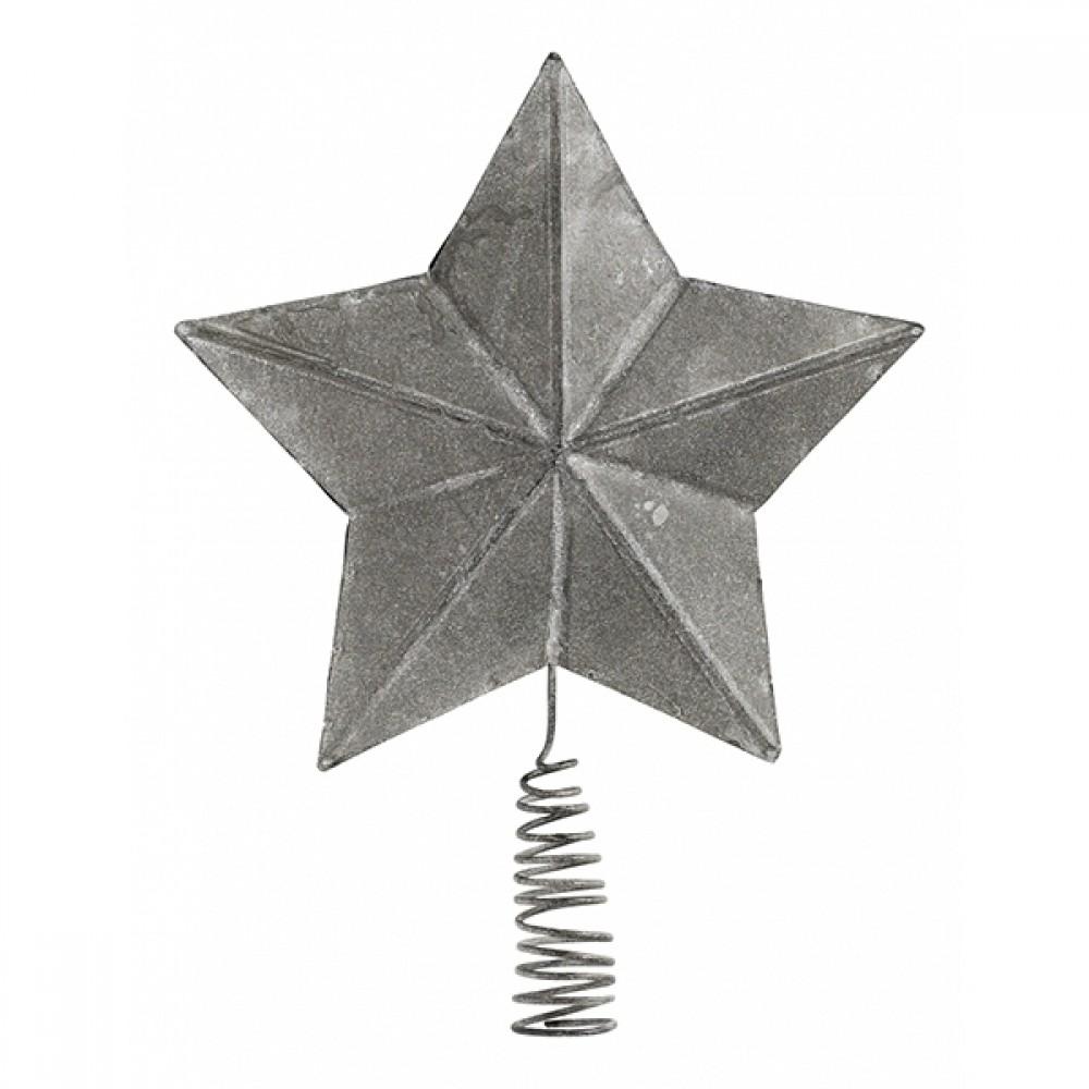 Metal Topstjerne - Zink look