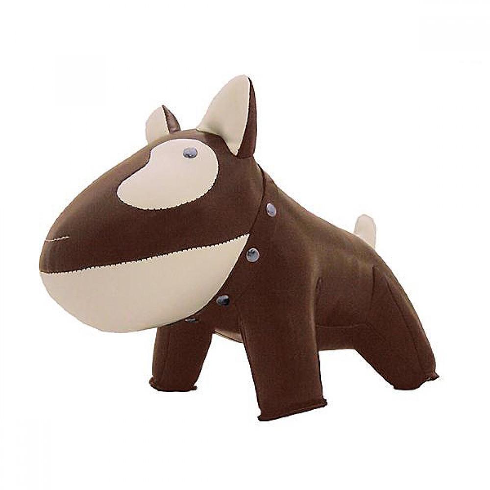 Züny Dørstop Bull terrier brun