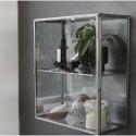 Lille glasskab m/stål kanter-20
